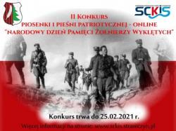 II Konkurs na Piosenki i Pieśni Patriotycznej z okazji Dnia Pamięci Żołnierzy Wyklętych
